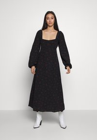 Free People - IRIS MIDI DRESS - Vestito estivo - black - 1