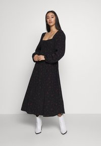 Free People - IRIS MIDI DRESS - Vestito estivo - black - 0