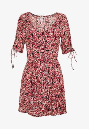 LACED UP MINI DRESS - Denní šaty - red