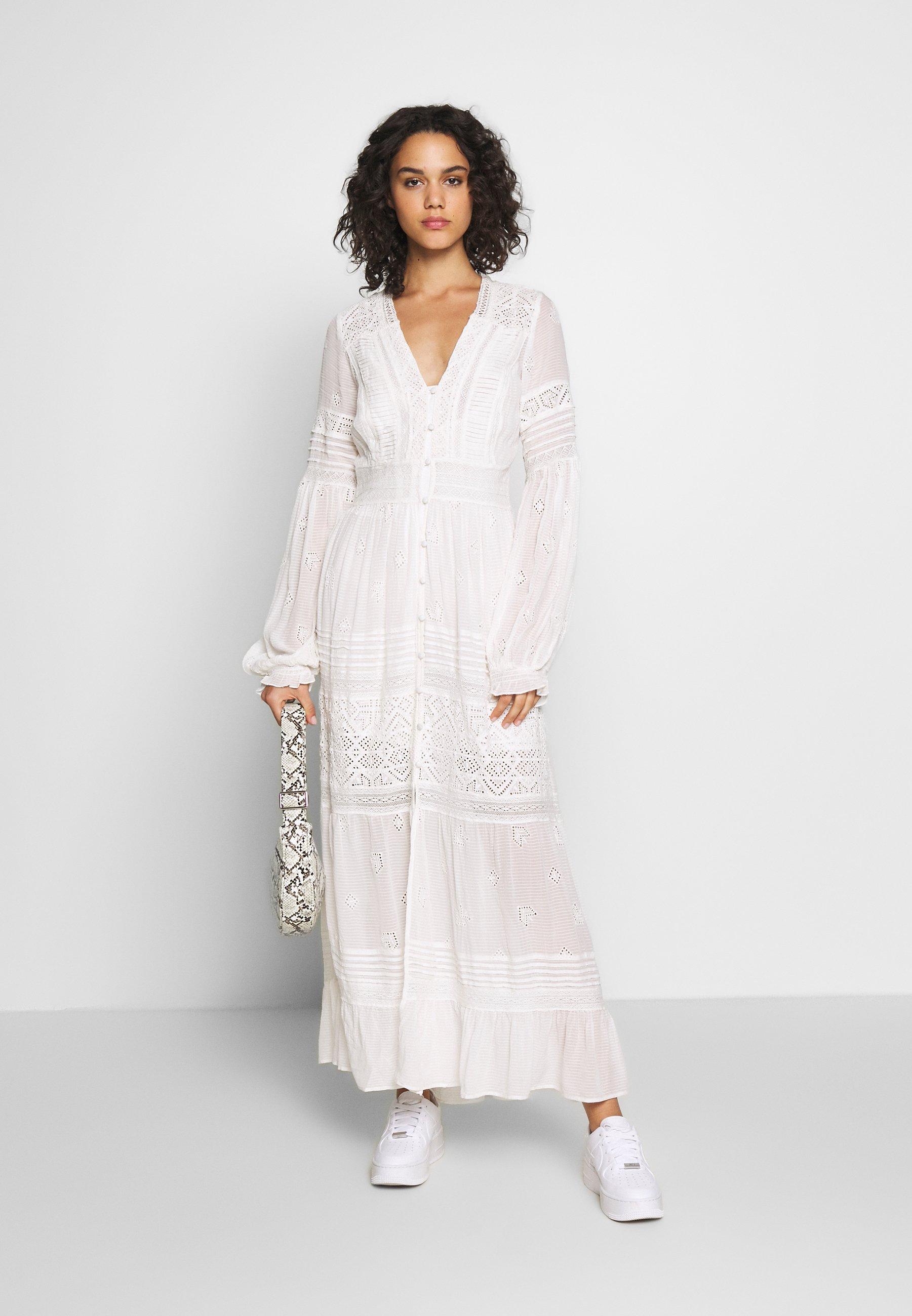 Free People Lisa Midi - Robe Longue Off White