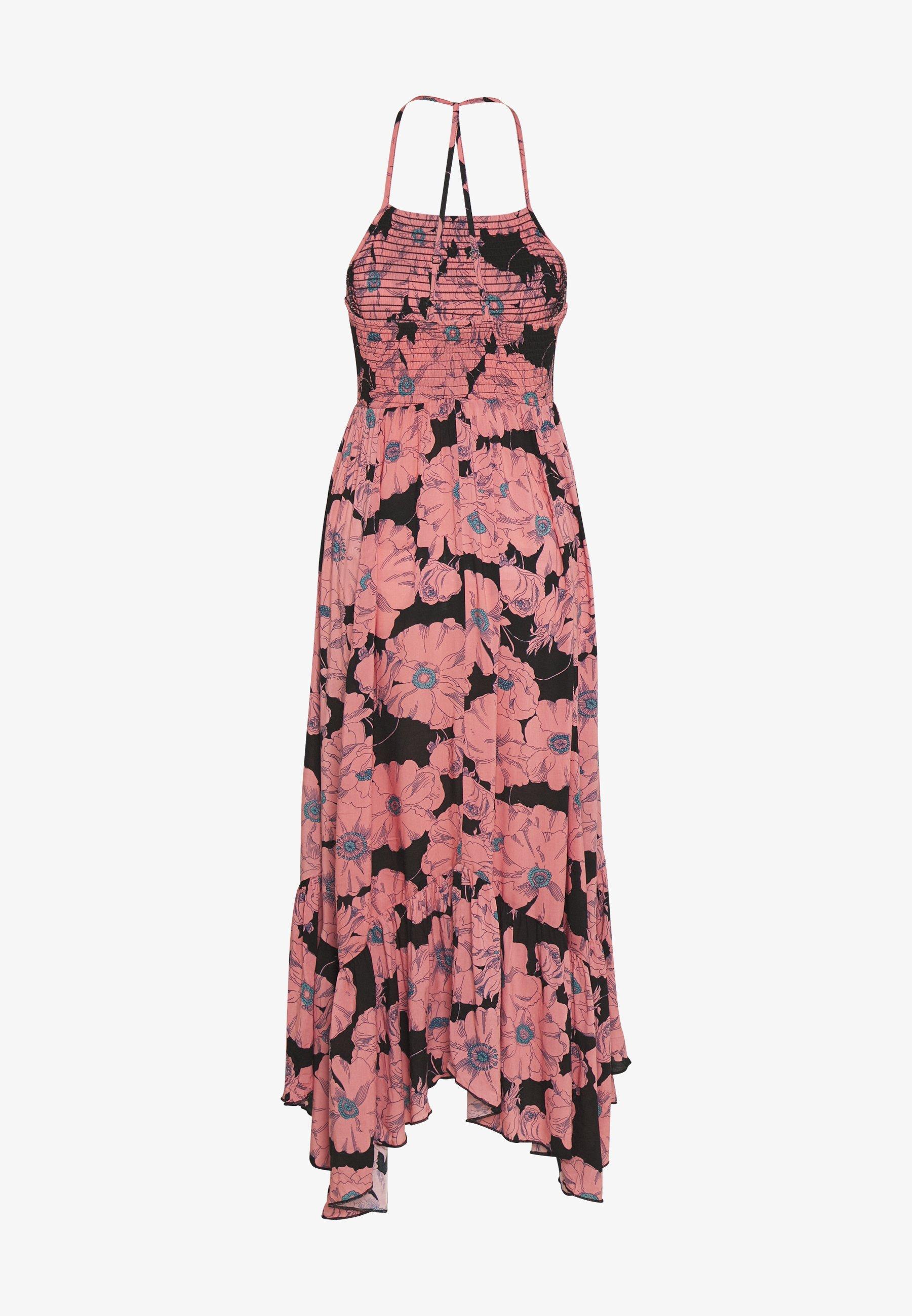 Free People Heatwave Printed Maxi - Dress Black UK