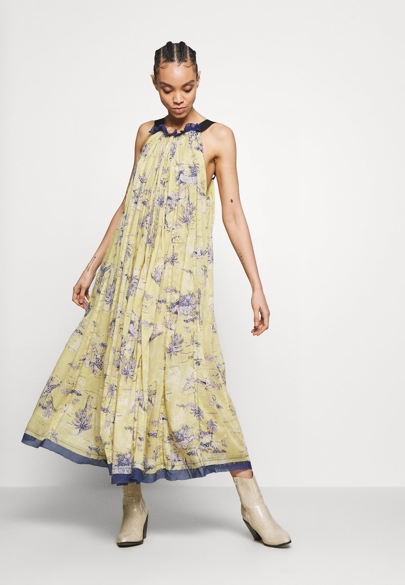 Free People - TROPICAL TOILE MAXI - Denní šaty - green