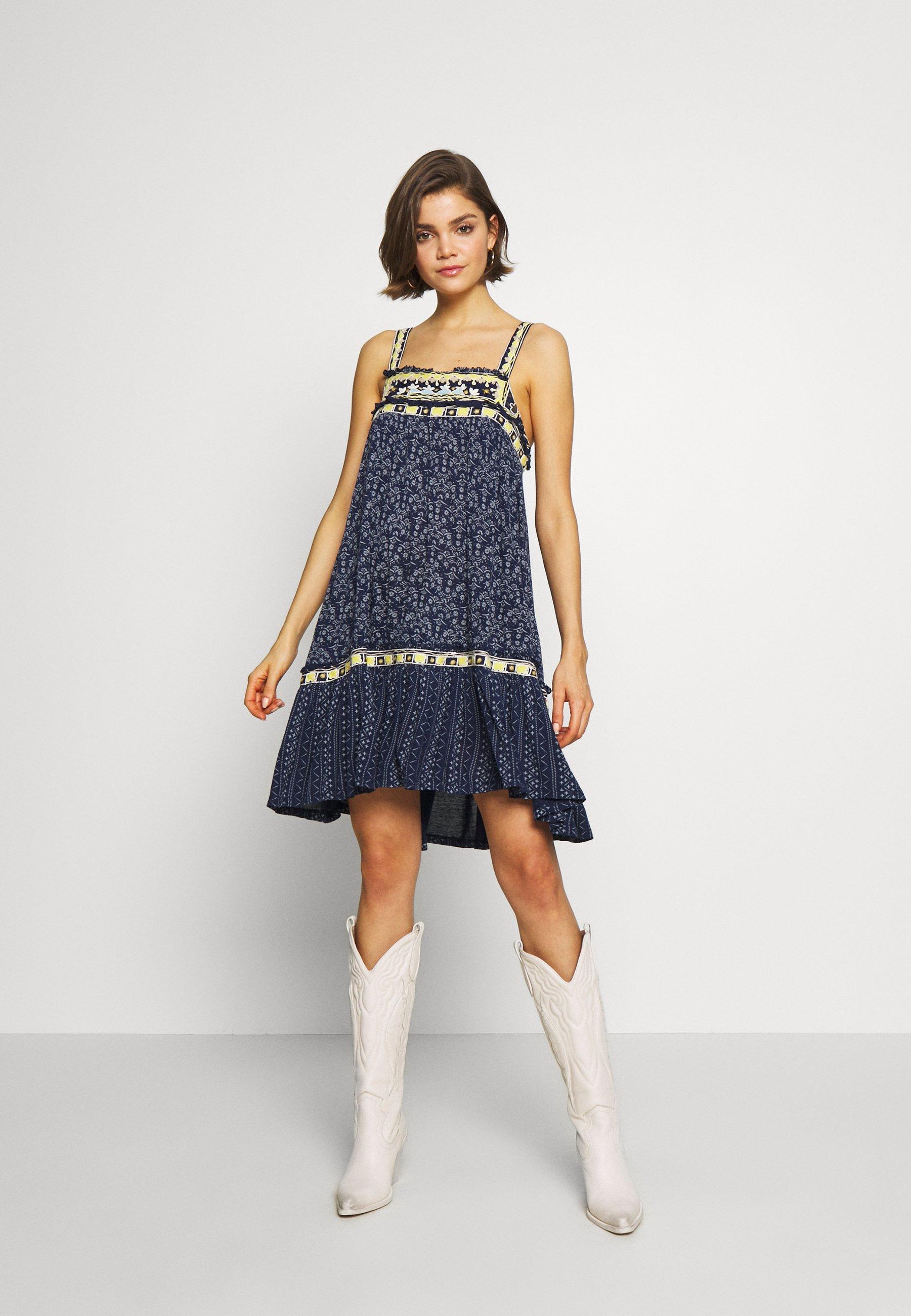 Free People BOARDERLINE TANK - Sukienka z dżerseju - blue