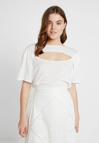 Free People - JUNE TEE - T-shirt imprimé - white - 0