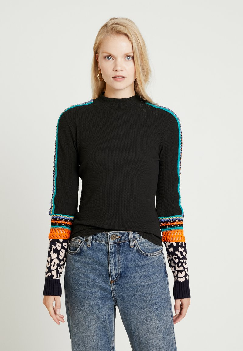 Free People - SWITCH IT UP THERMAL - Strickpullover - black