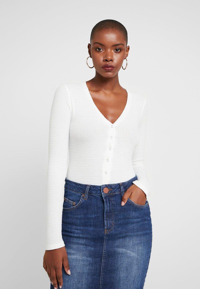 Free People - KEEP YOUR COOL BODYSUIT - Långärmad tröja - white