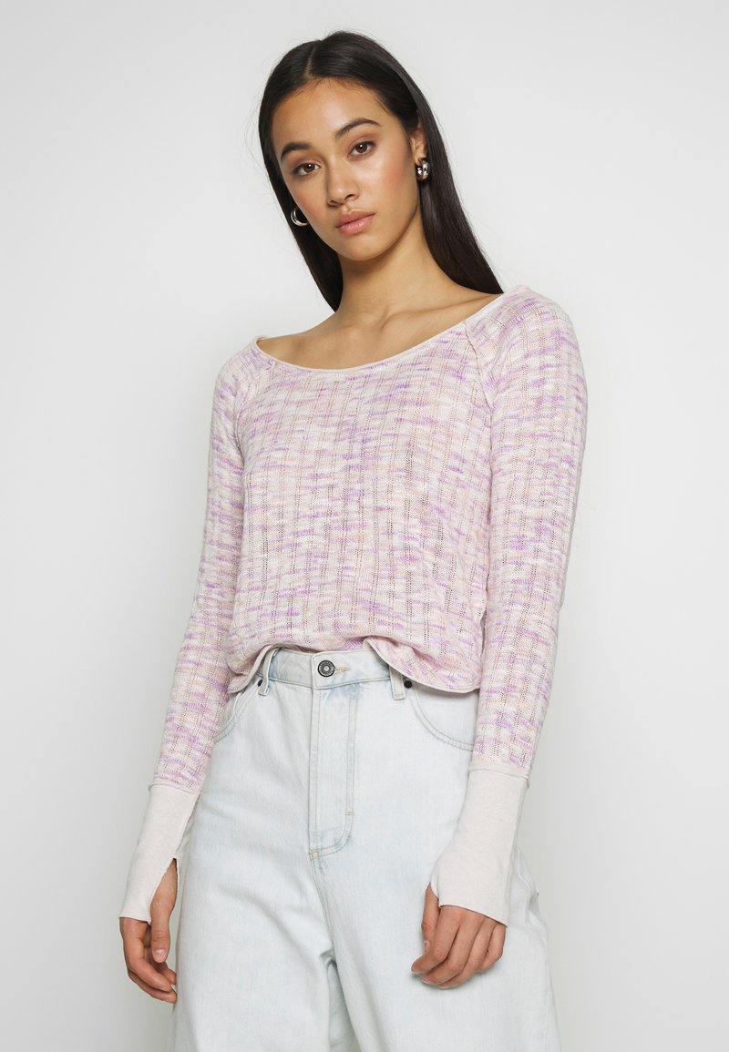 Free People - SPACED OUT LONG SLEEVE - Svetr - pink