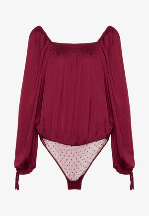 ANOTHER ROUND BODYSUIT - Blůza - dark red