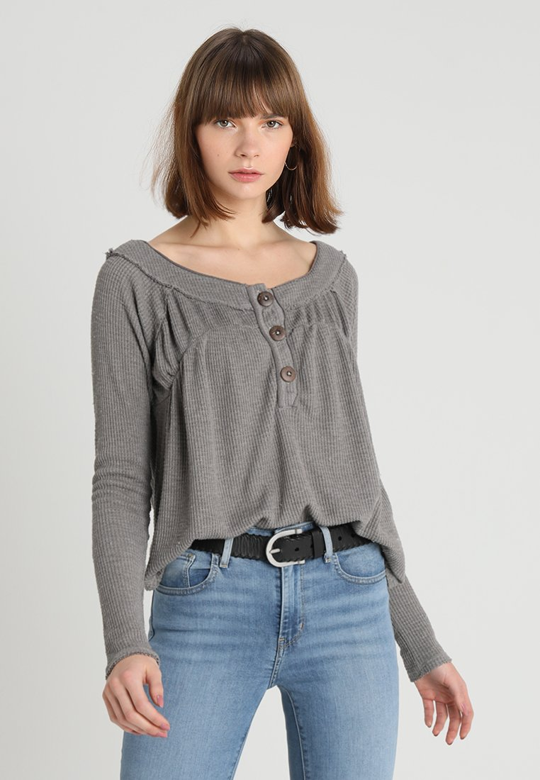 Free People - MUST HAVE HENLEY - Maglietta a manica lunga - grey