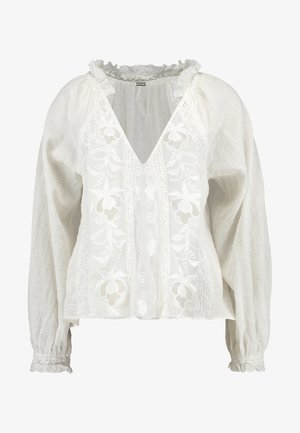 SIVAN EMBROIDERED BLOUSE - Bluser - ivory