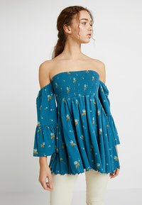 Free People - LANA TUNIC - Blouse - ocean blue - 0