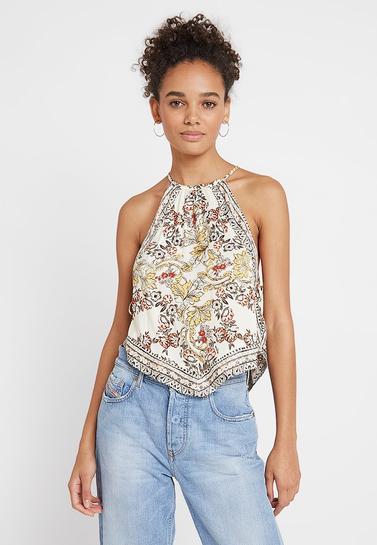 Free People - SOFIA PRINTED HALTER - Topper - ivory