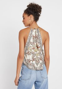 Free People - SOFIA PRINTED HALTER - Topper - ivory - 2