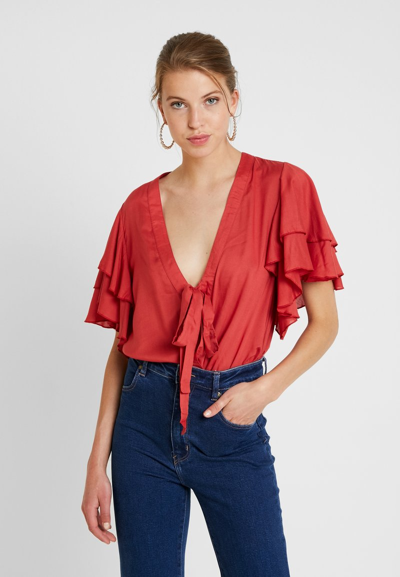 Free People - CALL ME LATER BODYSUIT - Blouse - red