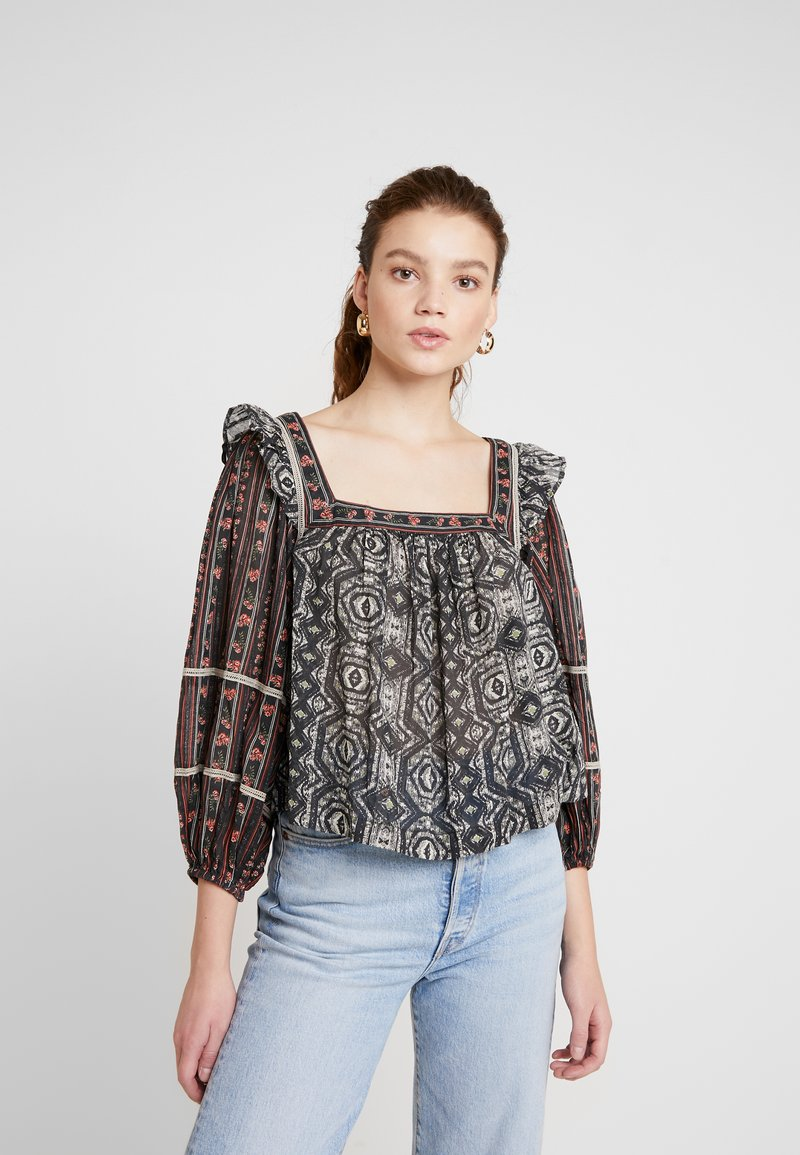 Free People - MOSTLY MEADOW BLOUSE - Bluser - black
