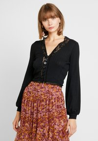 Free People - RUN WITH ME CARDI - Chaqueta de punto - black - 0