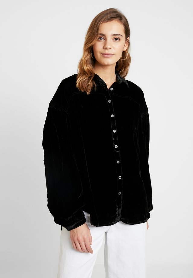 LA LUNA - Button-down blouse - black