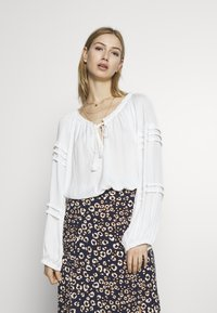Free People - ALL TUCKS BODYSUIT - Blouse - off-white - 0