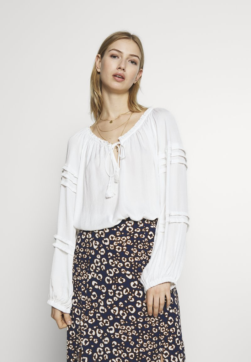 Free People - ALL TUCKS BODYSUIT - Blouse - off-white