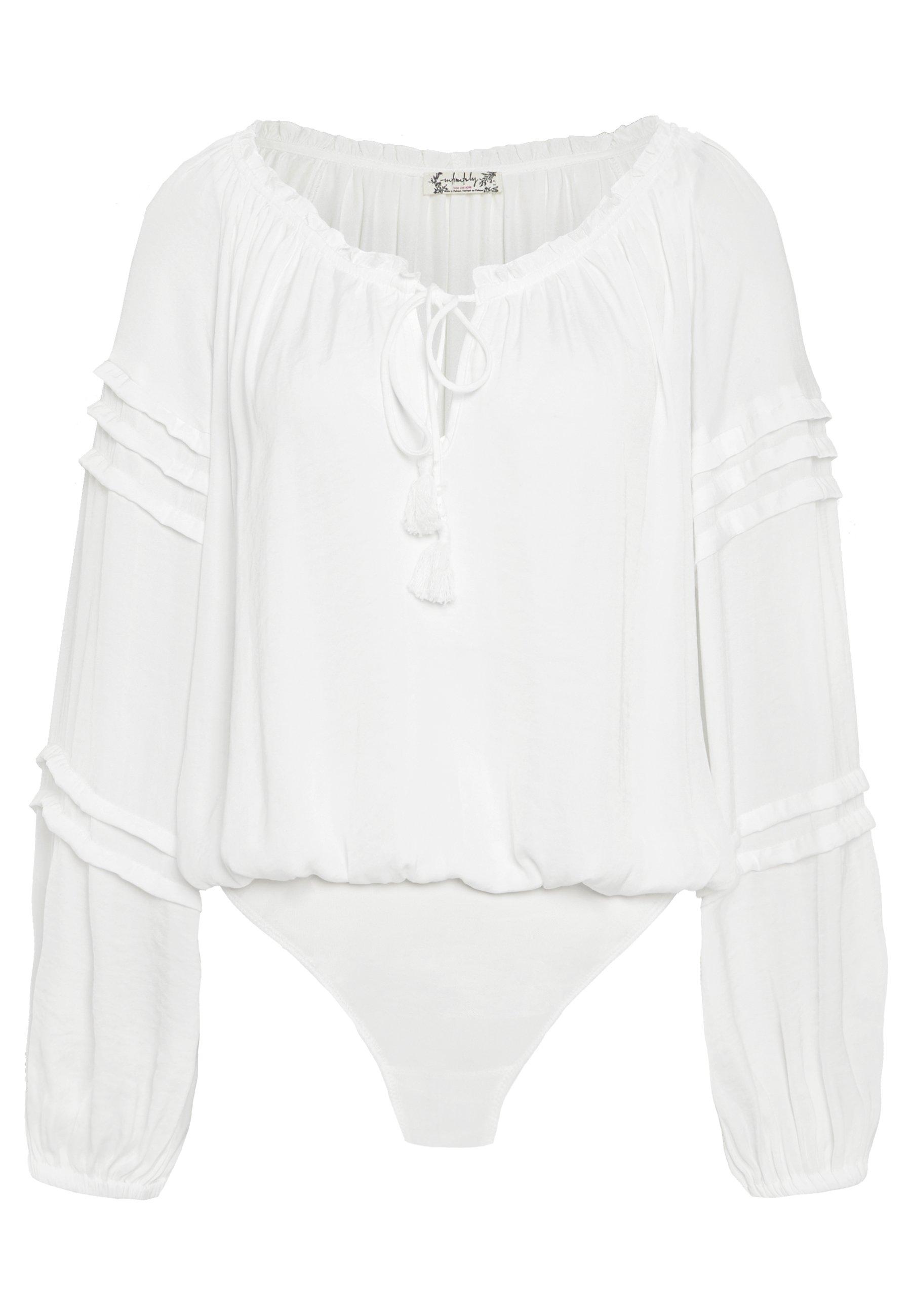 Free People ALL TUCKS BODYSUIT - Bluser - off-white