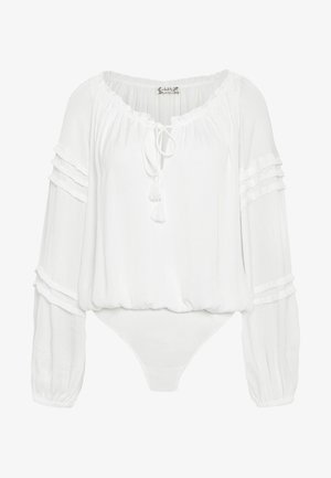 ALL TUCKS BODYSUIT - Blůza - off-white