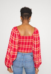 Free People - CHERRY BOMB MADRASS PLAID - Blouse - red - 2