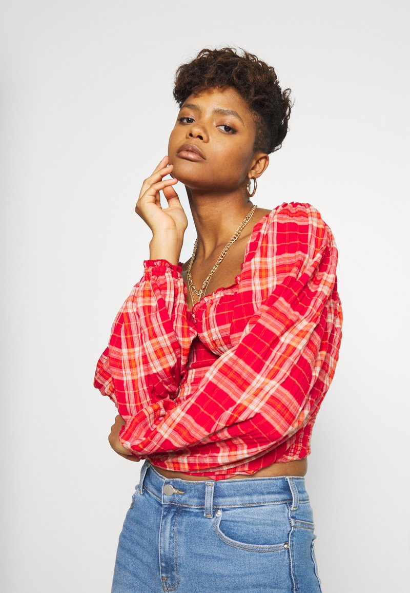 Free People - CHERRY BOMB MADRASS PLAID - Blouse - red