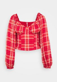 Free People - CHERRY BOMB MADRASS PLAID - Blouse - red - 4