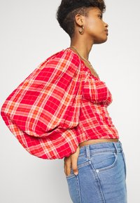 Free People - CHERRY BOMB MADRASS PLAID - Blouse - red - 3