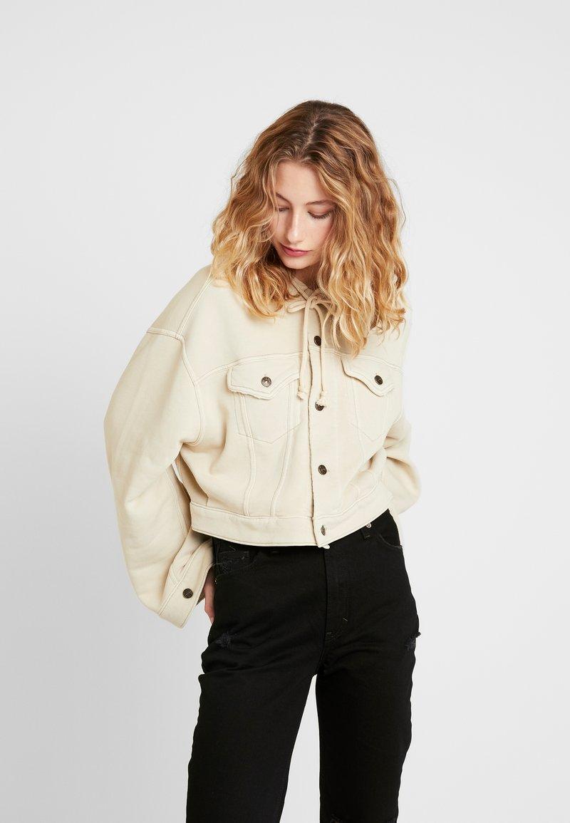 Free People - DREAMERS JACKET - veste en sweat zippée - beige