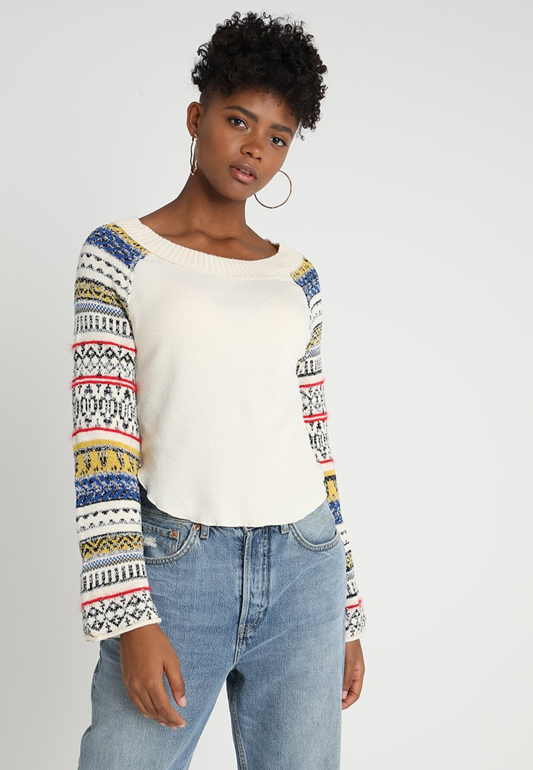 Free People - FAIRGROUND THERMAL - Strickpullover - ivory
