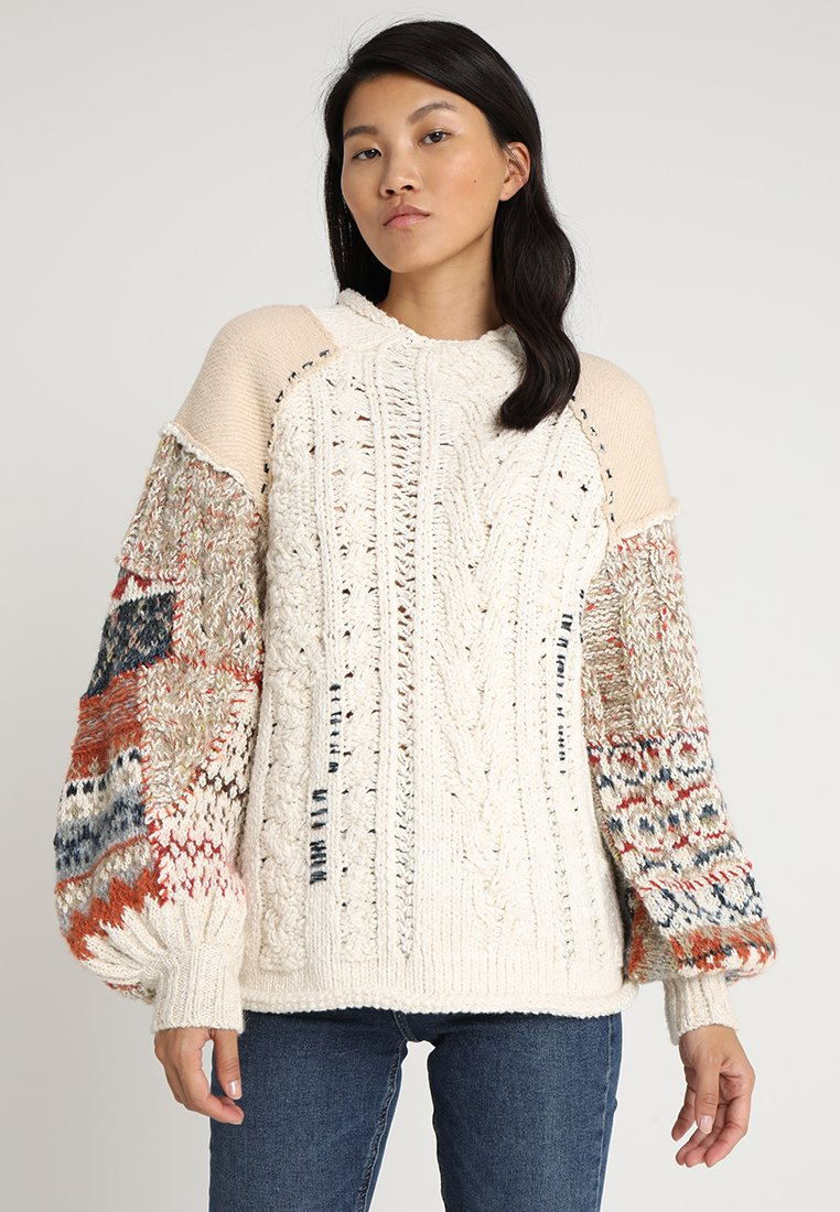Free People - MIXED AND MENDED  - Strickpullover - ivory combo