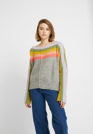SEE THE RAINBOW SWEATER - Pullover - grey