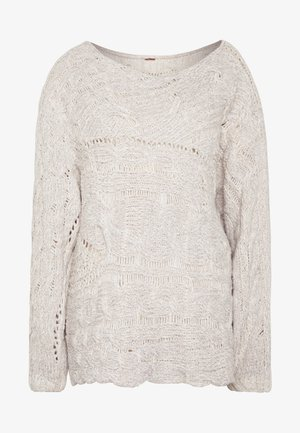 AGAINST THE TIDE SWEATER - Strikkegenser - white