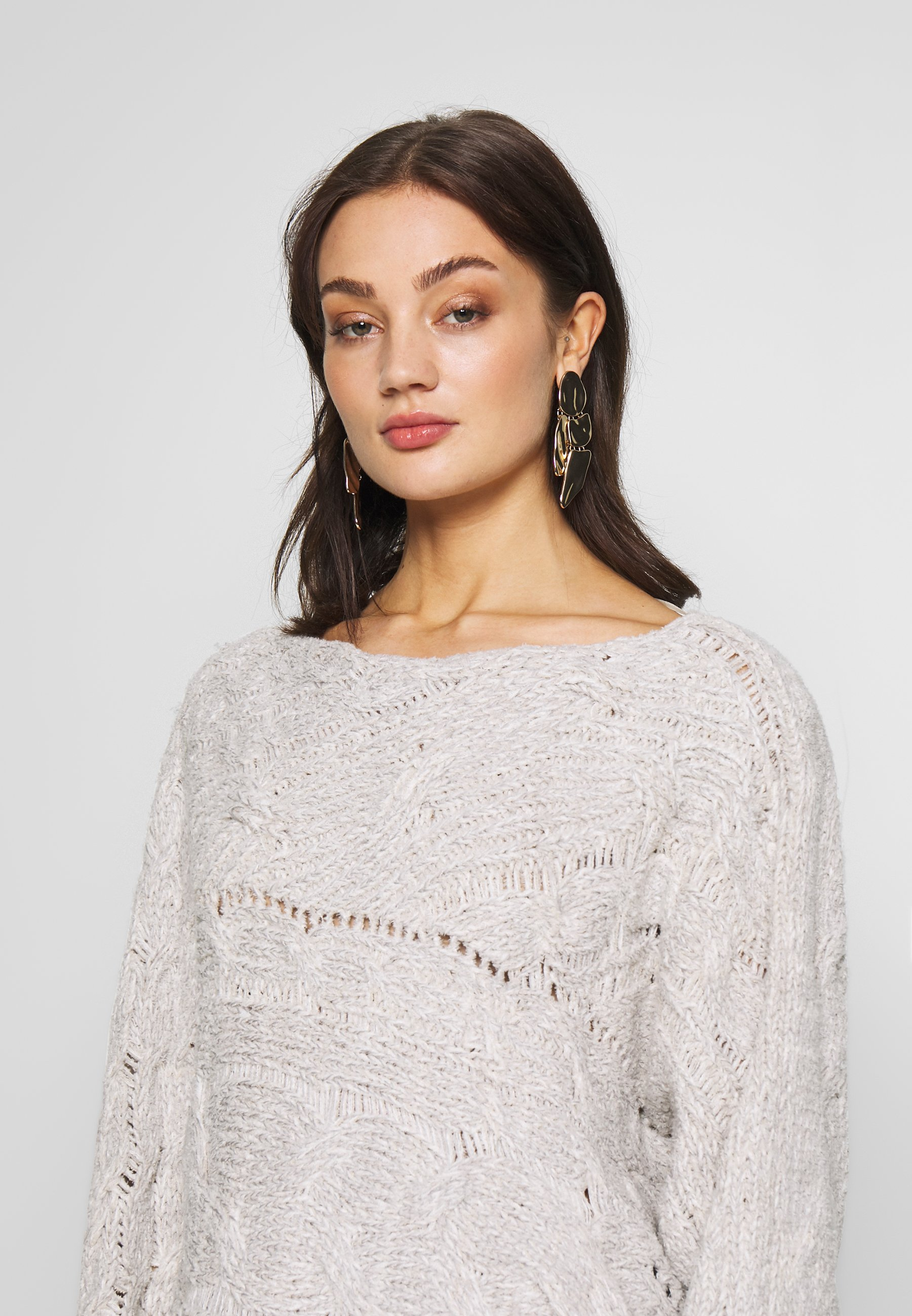 Free People Against The Tide Sweater - Maglione White