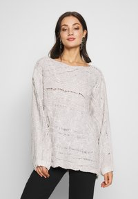 Free People - AGAINST THE TIDE SWEATER - Sweter - white - 0