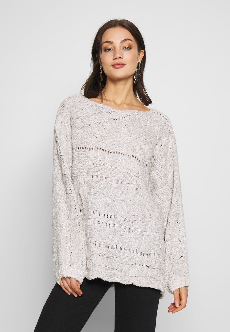 Free People - AGAINST THE TIDE SWEATER - Sweter - white