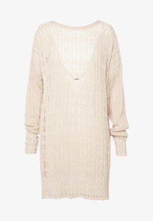 PRETTY IN POINTELLE - Sweter - beige melange