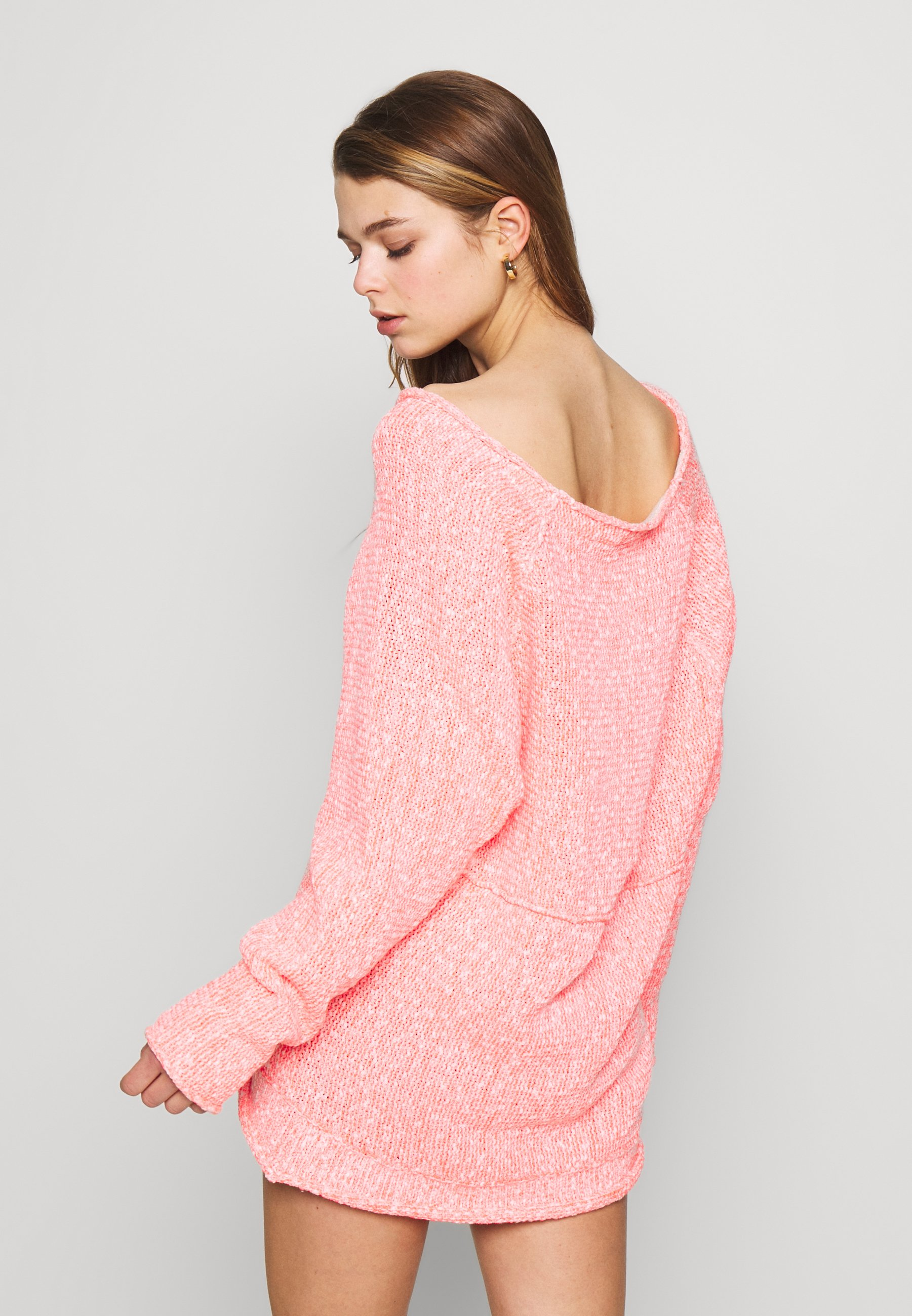Free People SPACED OUT LONG SLEEVE - Strikkegenser - pink