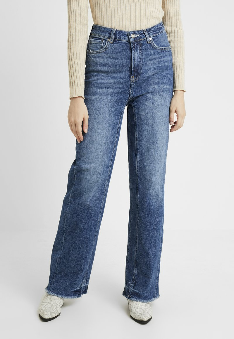 Free People - STRAIGHT SLOUCH - Jeans baggy - indigo blue