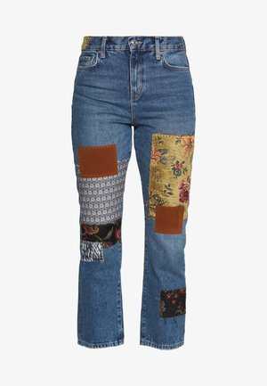 POPPY PATCH - Jeans bootcut - blue