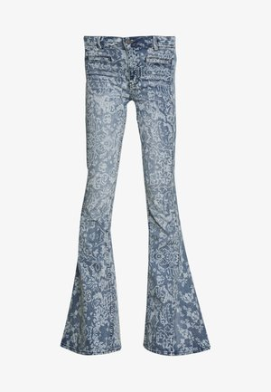DREAM LOVER FLARE PRINTED - Flared jeans - blue