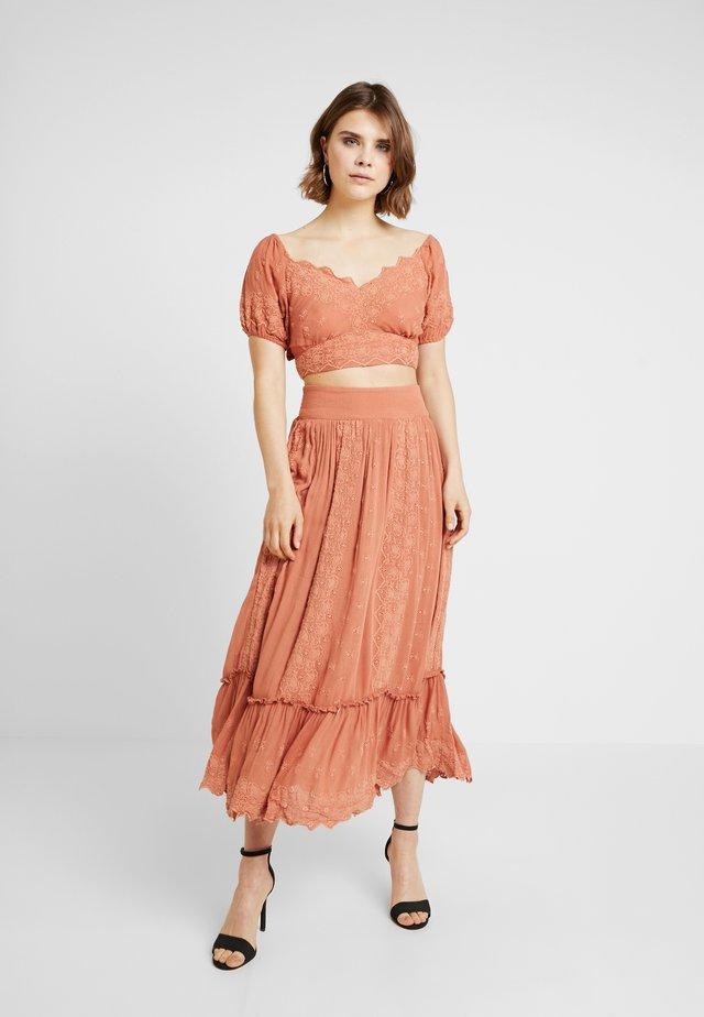 ELLA SET - Maxi sukně - pink