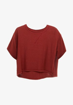 FP MOVEMENT SCORE BOXY TEE - T-shirt basic - dark red