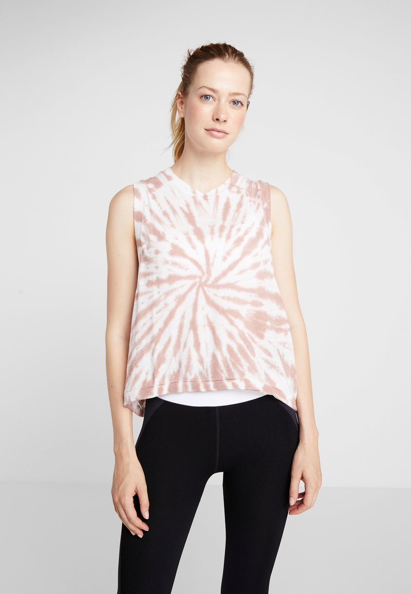 Free People - FP MOVEMENT LOVE TANK TIE DYE - Top - taupe