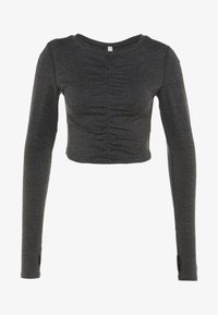Free People - FP MOVEMENT SWERVE LONG SLEEVE LAYER - Långärmad tröja - carbon - 4