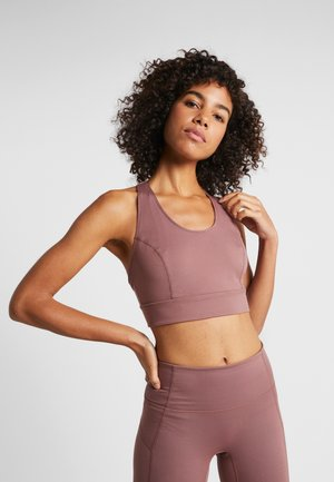 LIGHT SYNERGY CROP - Sport-bh - chocolate