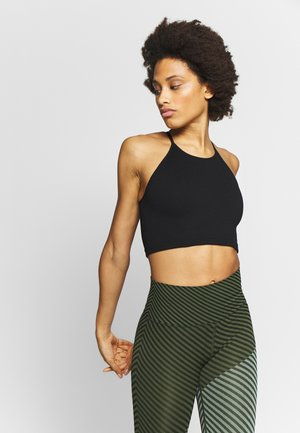 RUN HAPPY TANK - Sports bra - black