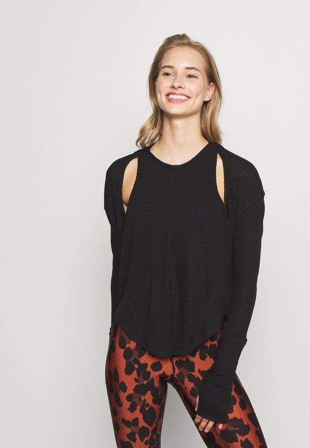 LAY UP TEE - Long sleeved top - black