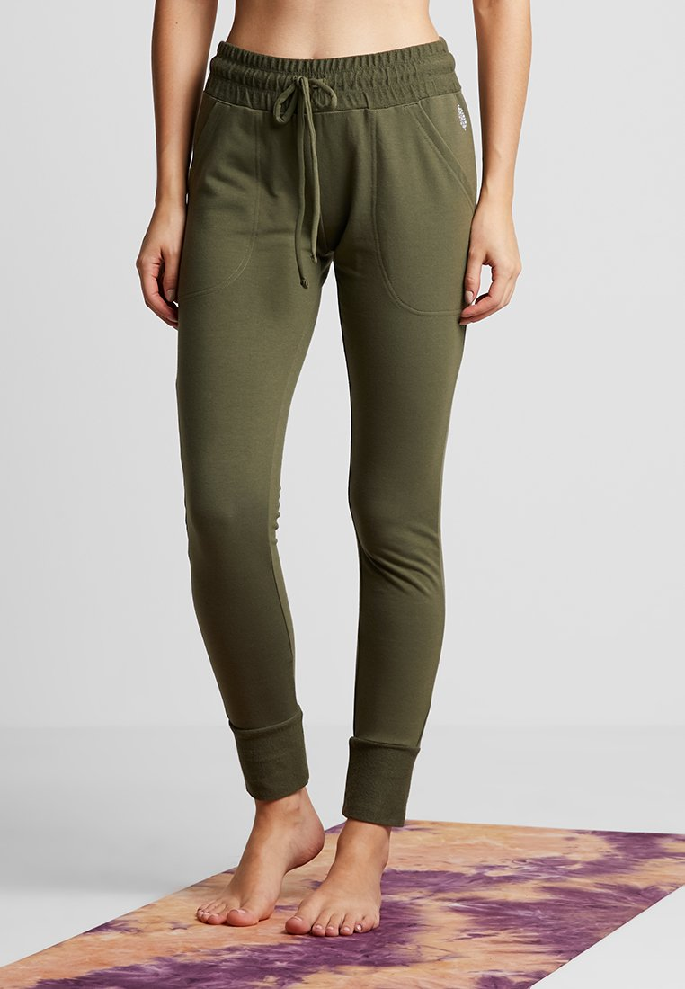 Free People - SUNNY SKINNY - Tracksuit bottoms - army